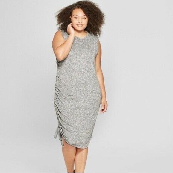 Ava & Viv Dresses & Skirts - AVA & VIV Ruched Side Sleeveless Knit Dress Size X